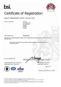 Tora Certificate